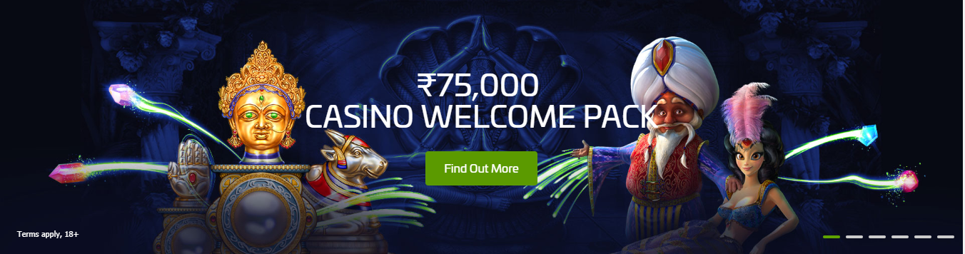Sign up to 10cric Casino India to receive a massive welcome bonus