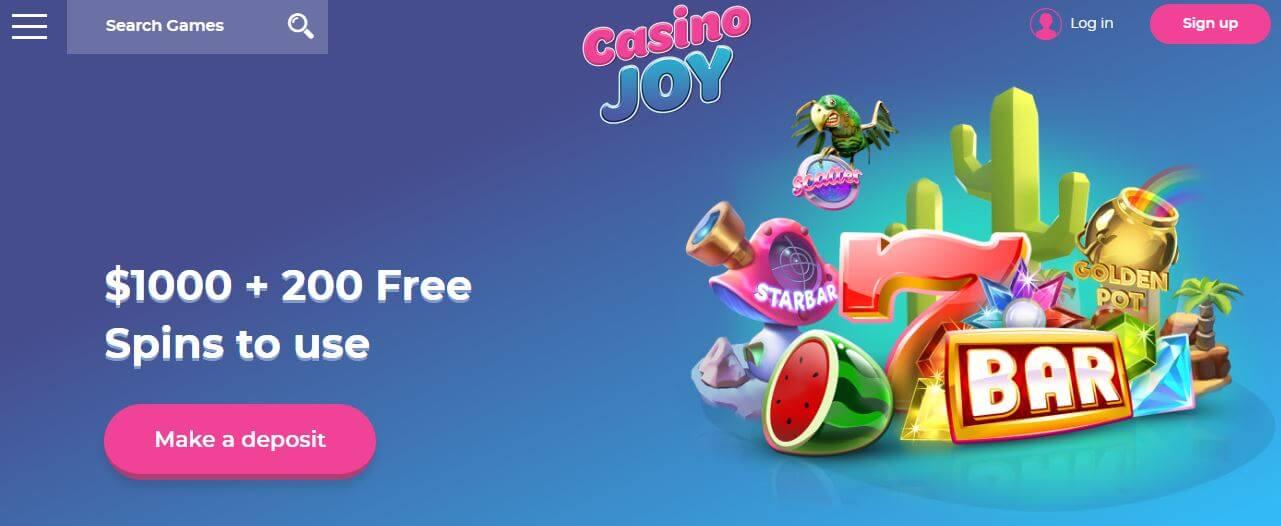 Collect your Casino Joy bonus now!