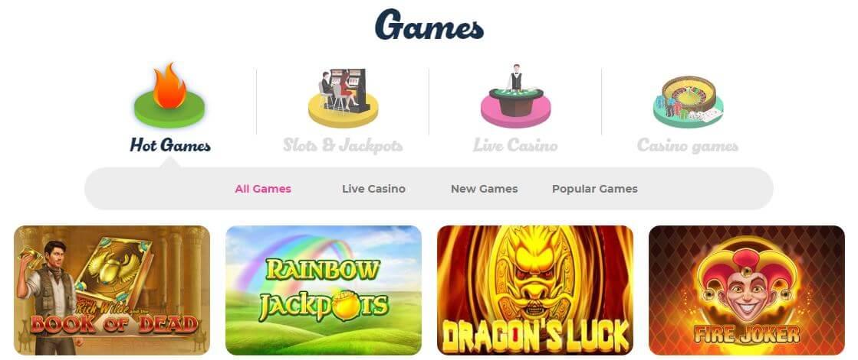 Have fun with 1300+ slots at Casino Joy