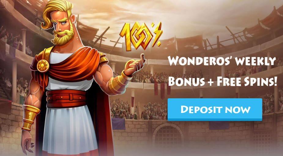 Enjoy weekly bonuses at Casino Gods India