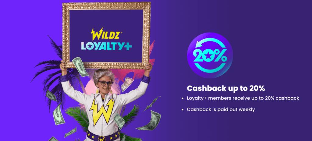 20% cashback bonus every week!