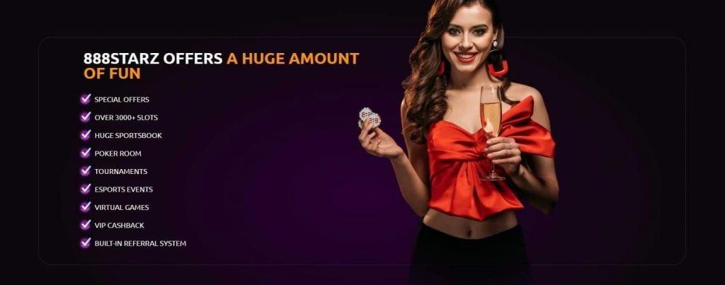 888Starz Casino Features